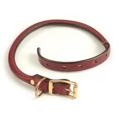 Mendota Rolled Leather Collar | Uttings.co.uk
